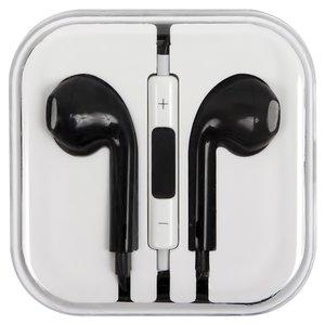 Гарнітура для мобільних телефонів Apple iPhone 4, iPhone 4S, iPhone 5, iPhone 5C, iPhone 5S, iPhone 6, iPhone 6 Plus, чорна