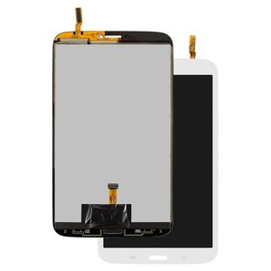 LCD compatible with Samsung T310 Galaxy Tab 3 8.0, T3100 Galaxy Tab 3, T311 Galaxy Tab 3 8.0 3G, T3110 Galaxy Tab 3, T315 Galaxy Tab 3 8.0 LTE, (version 3G , white, with touchscreen)