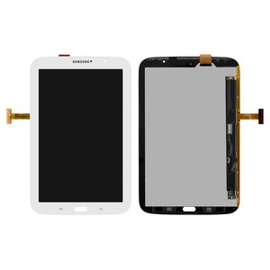 LCD for Samsung N5100 Galaxy Note 8.0 , N5110 Galaxy Note 8.0  Tablets, ((version Wi-Fi), white, with touchscreen)