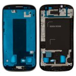 LCD Binding Frame compatible with Samsung I9300i Galaxy S3 Duos, (silver)