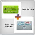 Renovación de acceso al servidor Furious Gold por 1 año  + Furious Gold Pack 5