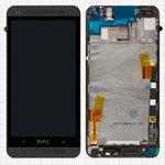 Pantalla LCD para celular HTC One M7 801e, negro, con panel delantero, con cristal táctil, Original (PRC)