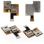 Conector de tarjeta SIM puede usarse con HTC Desire 601, una tarjeta SIM, con el conector de tarjeta de memoria, con cable flex