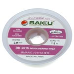 Cinta desoldadoras BAKU BK 2015, (Ancho) 2.0 mm, (L) 1.5 m
