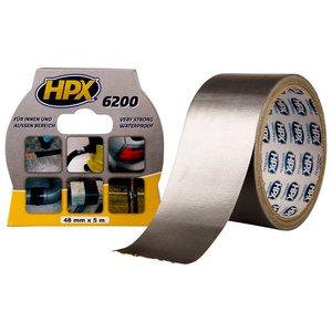 Стрічка армована одностороння HPX 6200, 50 мм, 25 м, серебристая