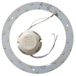 Juego de piezas para armar lámpara LED de 15 W (luz blanca natural, redondo, 4000-4500 K)
